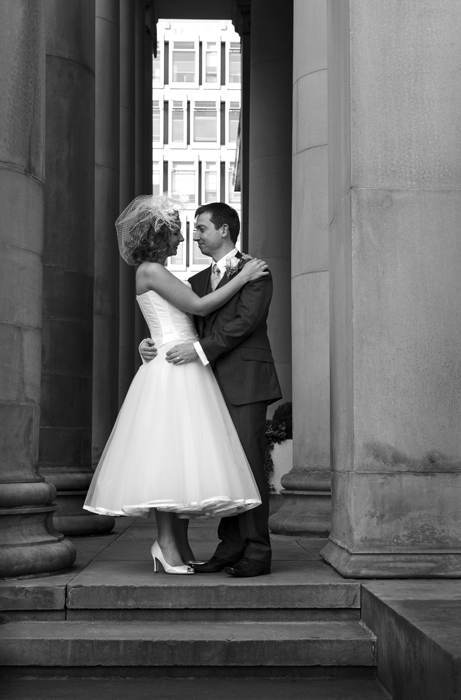 MAG-couple-under-portico-BW